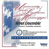 University of Southern Mississippi Wind Ensemble 2/14/2004