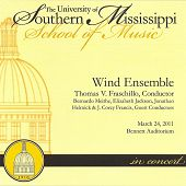 University of Southern Mississippi Wind Ensemble 3/24/2011